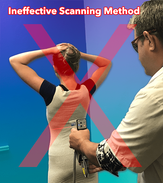 Ineffective Scanning method for fitting a scoliosis brace