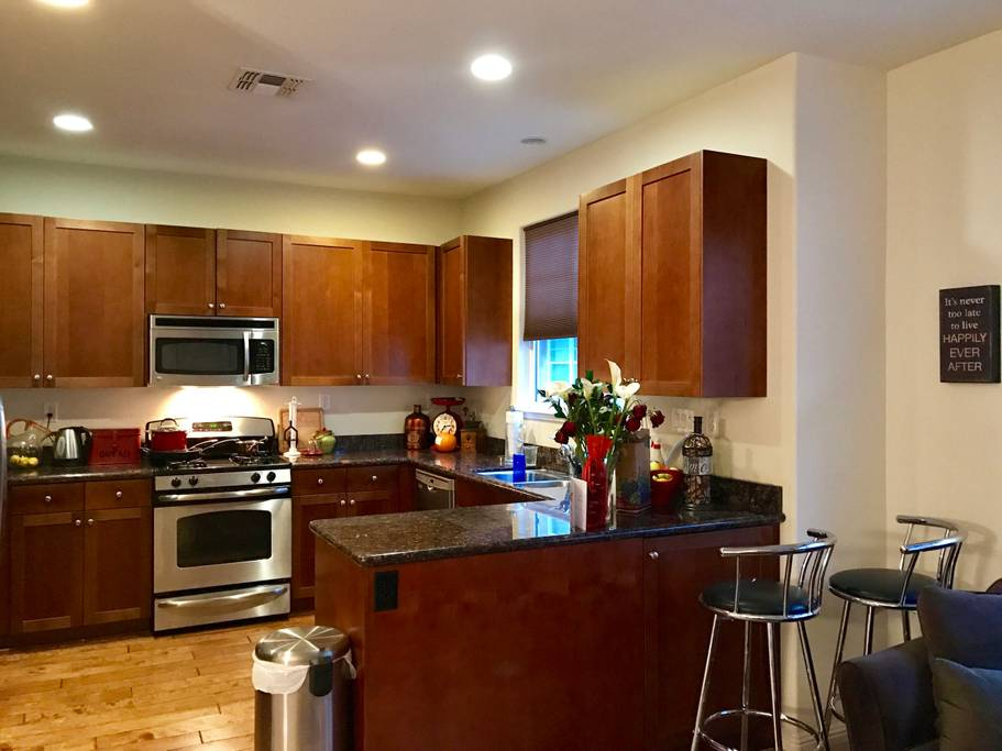 Kitchen of Airbnb near Scoliosis Care Centers