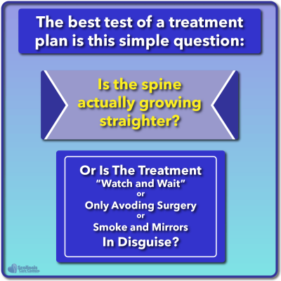 Simple assessment for scoliosis treatment effectiveness