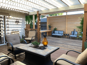 Local rental accommodations photo of patio