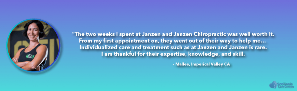 Mallee's adult scoliosis treatment testimonial