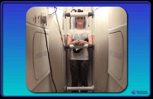 Girl in standing upright MRI
