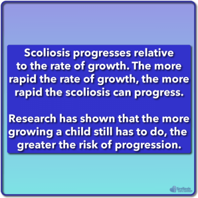 Scientific research shows curve progression risk associated with remaining growth