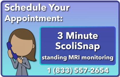 Call our clinic and schedule your ScoliSnap scoliosis MRI monitoring appointment