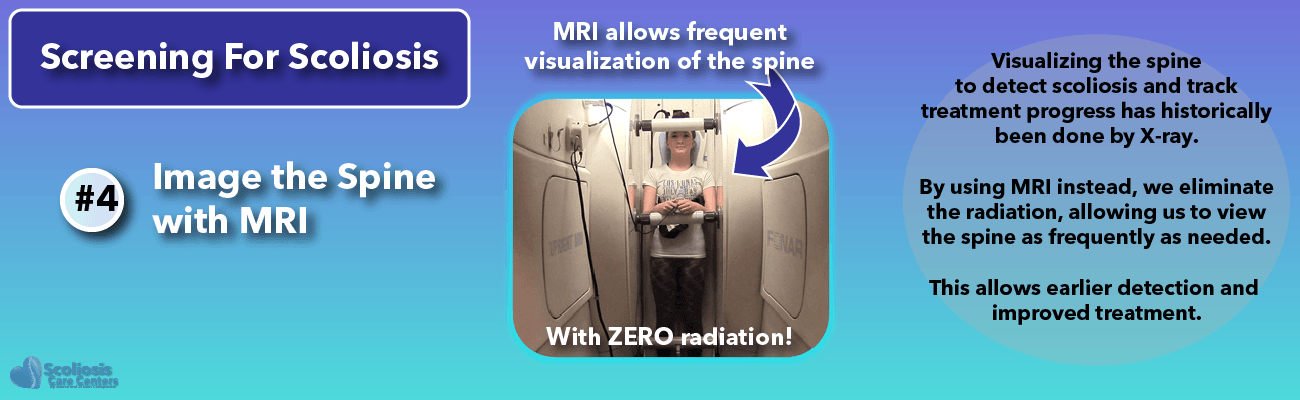 Using MRI instead of xray allows frequent examination of scoliosis