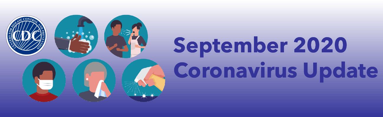 September 2020 Coronavirus Update banner