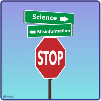 Science versus misinformation road signs